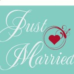 Just Married Car Decal Car Transfer Car Sticker with FREE Heart Graphic