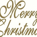 Merry Christmas Wall Sticker Wall Transfer