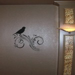 Bird and Swirls Wall Decal