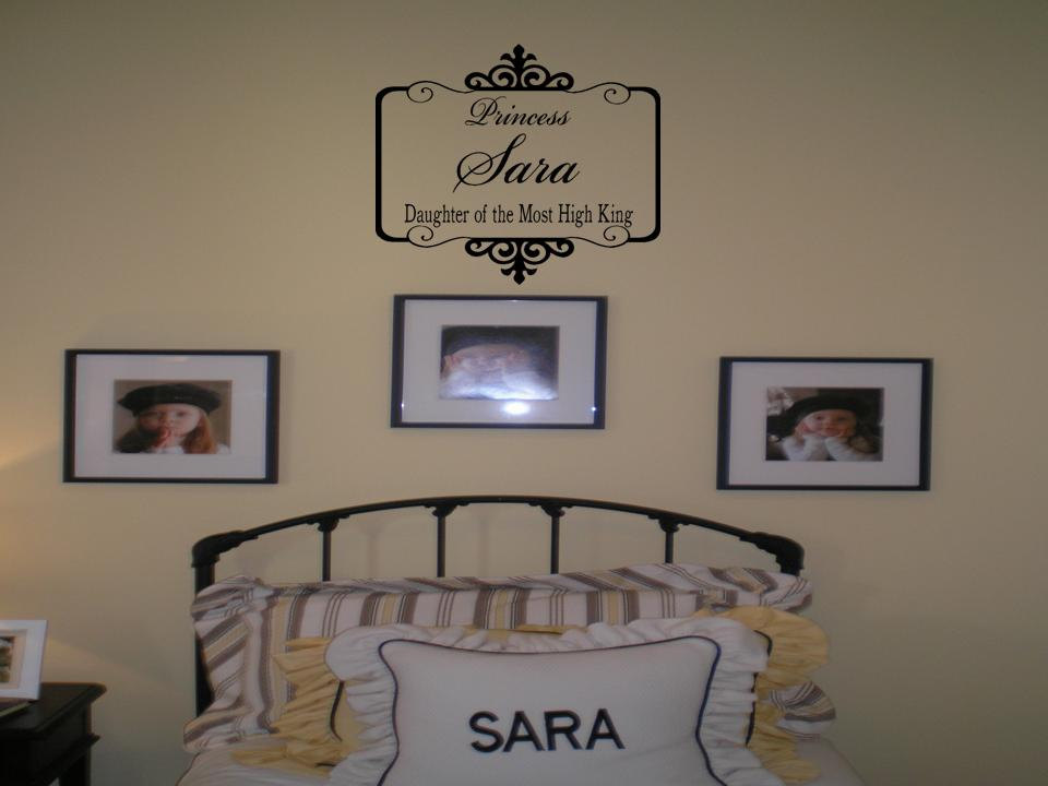 Personalized Name and Daughter of the Most High King with Ornate ...