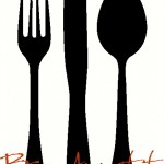 Bon Appetit/EAT with Large Silverware Wall Decal Wall Stickers Wall Tattoo