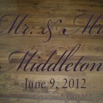 Elegant Script Mr and Mrs Wedding Dance Floor Decal