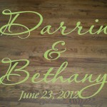 Wedding Dance Floor Decal with Bride and Groom Names and Wedding Date