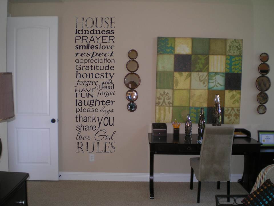 Family House Rules Vinyl Wall Decal Sticker Art Subway Art
