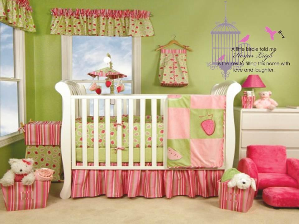 Nursery Room Bird Cage Wall Decal