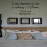 The future belongs to those who believe in the Beauty of their Dreams Eleanor Roosevelt Quote Wall Decal