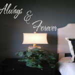 Always and Forever  Wall Decal Quote  Wall Decal Sticker