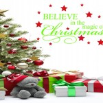 Believe in the magic of CHRISTmas Wall Decal Wall Quote Wall Sticker Transfer