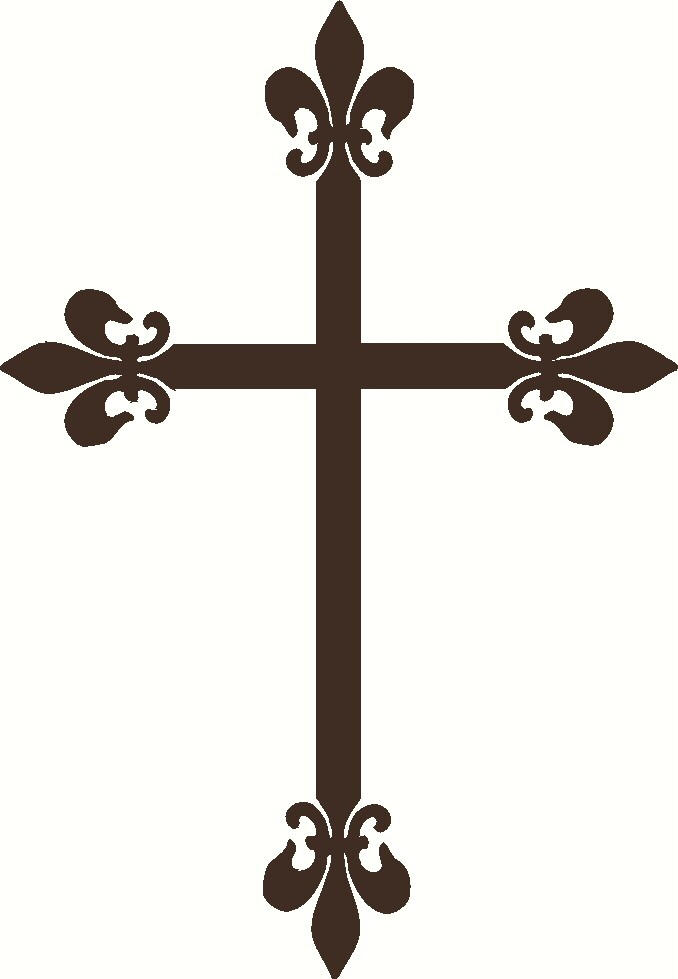 Fleur de lis cross wall decal touch of beauty designs Fleur de lis wall