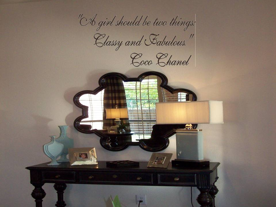 Coco Chanel Quotes Touch Of Beauty Designs Custom Wall Decals