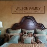Custom Family Name and All because two people fell in love Wall Decal
