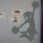 Extra Large Cheerleader Wall Decal