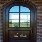 Custom Script Door Number Wall Decal
