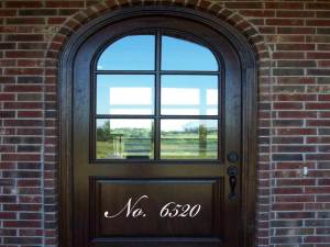 Custom Script Door Number Wall Decal