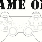 Game On with Game Controller Graphic Wall Decal