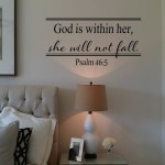 God is within her Wall Decal