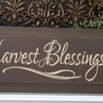 Harvest Blessings Wood Sign