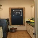 Laundry Room Wall Decal with Ornate Frame