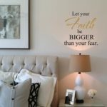 Let your Faith be Bigger than your fear Wall Decal
