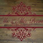 Vintage Inspired Wedding Floor or Wall Decal