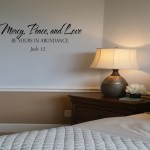 Mercy, Peace, and Love Wall Decal