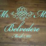 Elegant Wedding Floor Decal