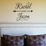 Trendy Personalized Names with Arrow Wall Decal