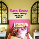 Children are a heritage from the Lord Wall Decal