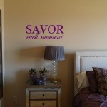 Savor Each Moment Wall Decal