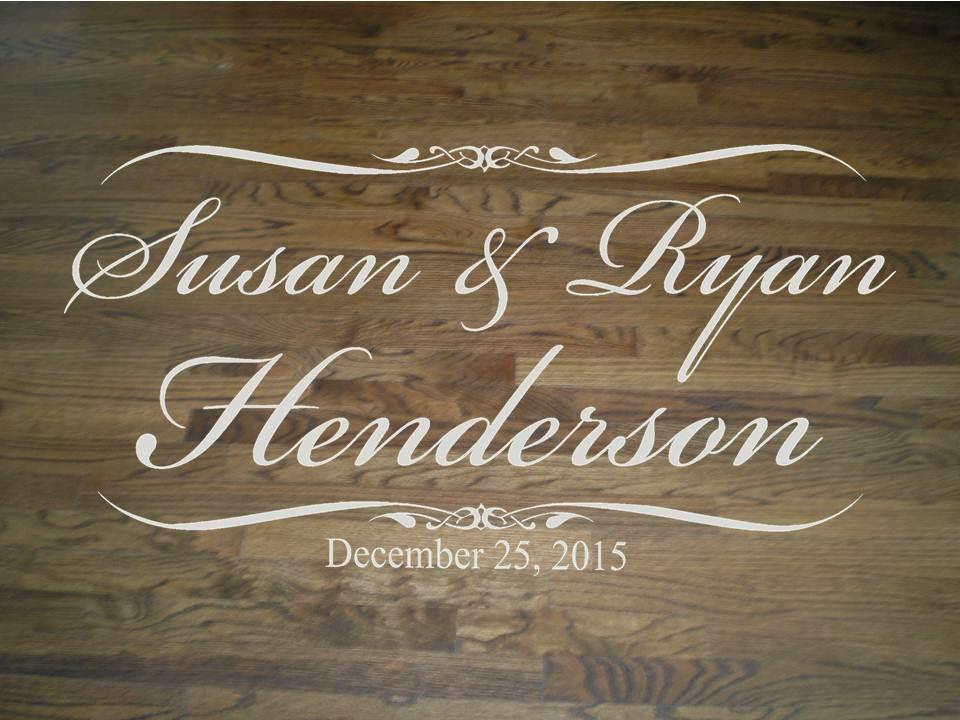 Wedding Dance Floor With Beautiful Script Bride And Groom