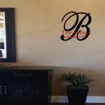 Personalized Family Name and Monogram Wall Decal