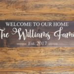Welcome to Our Home with Personalized Family Name