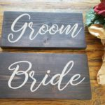 Bride & Groom Wood Signs