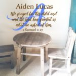 We prayed for this Child with Monogram and Name Wall Decal